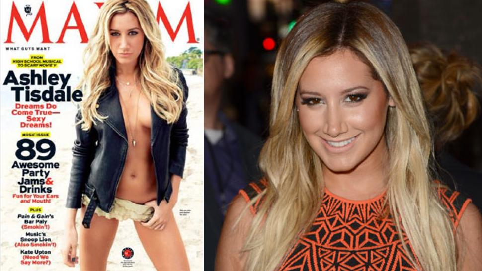 Ashley Tisdale Goes Topless For Maxim Entertainment Tonight