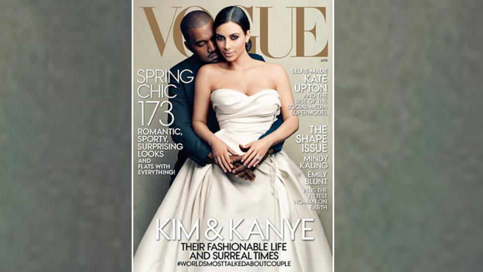 Kim Kardashian And Kanye West Get Their Vogue Cover