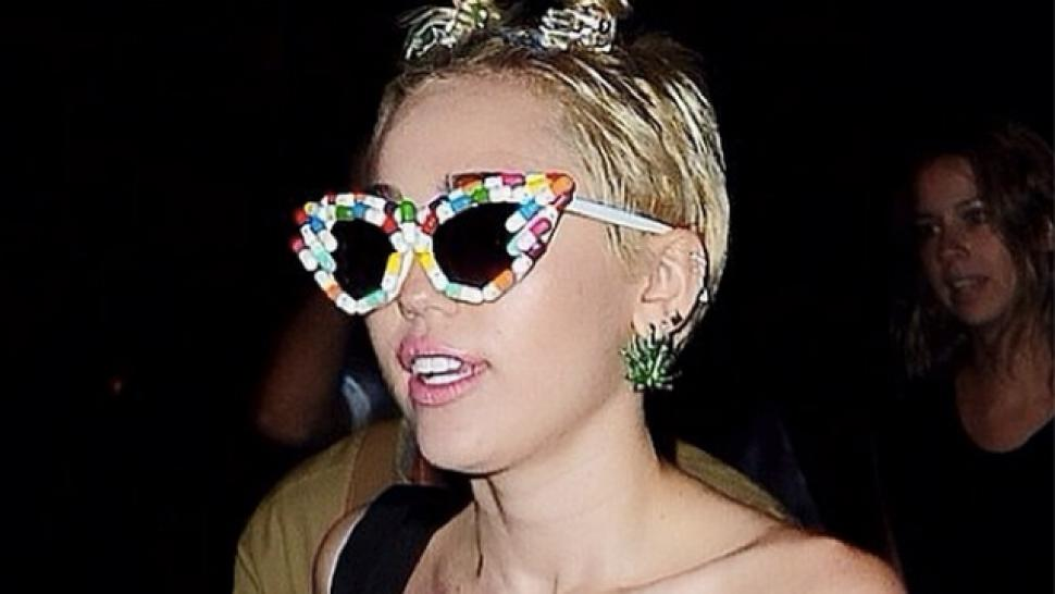 Miley Cyrus Goes Topless To New York Fashion Week After Party