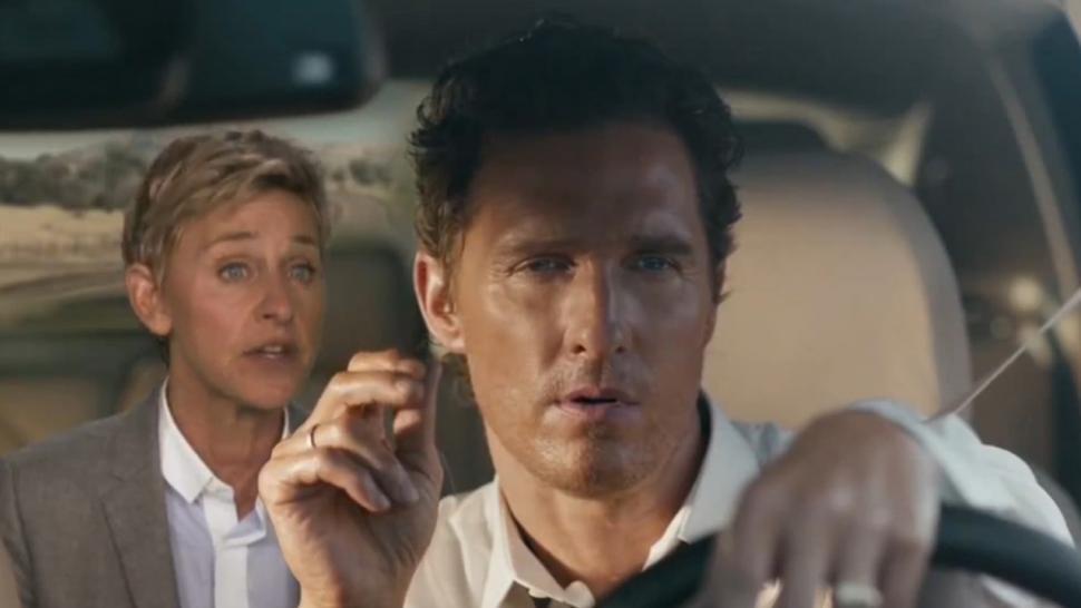 Ellen Degeneres Shows Up In Matthew Mcconaughey S Car Commercial