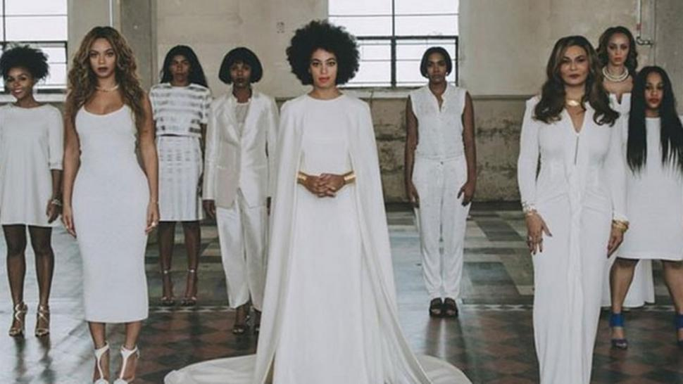 See Solange\'s Unconventional Wedding Dress & Beyonce\'s Glam Maid Of ...