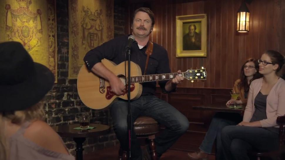 Nick Offerman Sings About His Undying Love Of Whiskey