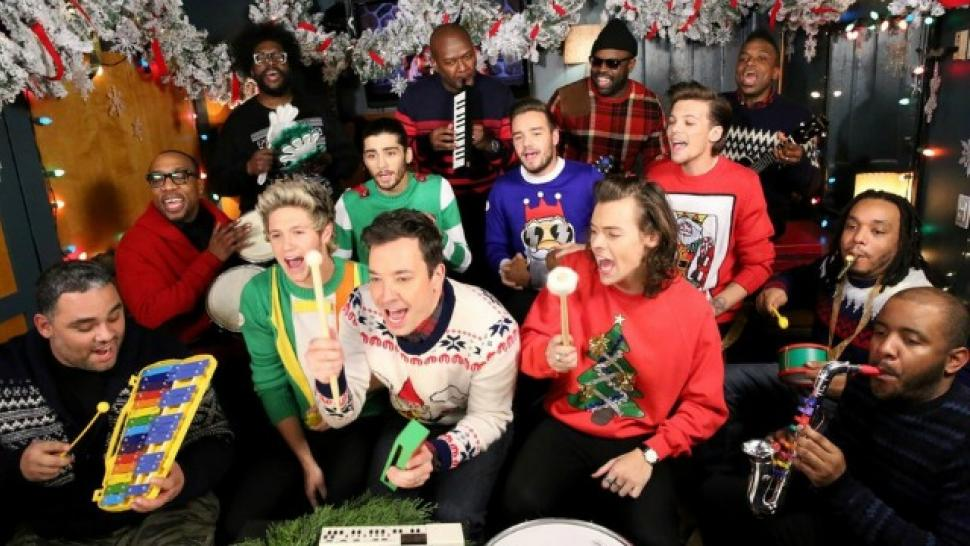 One Direction and Jimmy Fallon Sing a Christmas Classic With ...