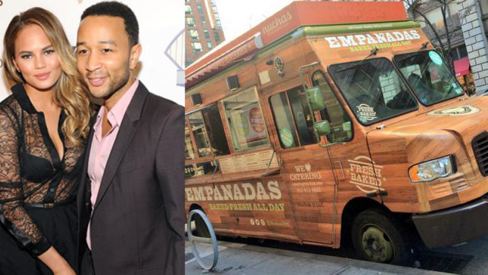 John Legend And Chrissy Teigen Hire Food Trucks To Feed Nyc