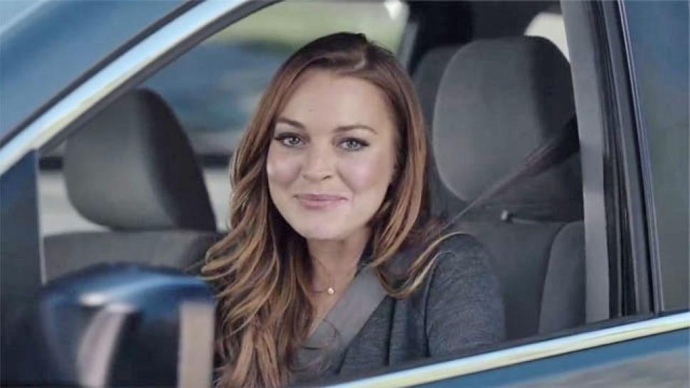 Esurance Car Insurance >> Lindsay Lohan Teases Super Bowl Car Insurance Ad: 'Time to ...