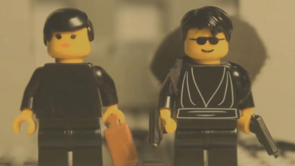 This Amazing Lego Remake of 'The Matrix' Lobby Shootout