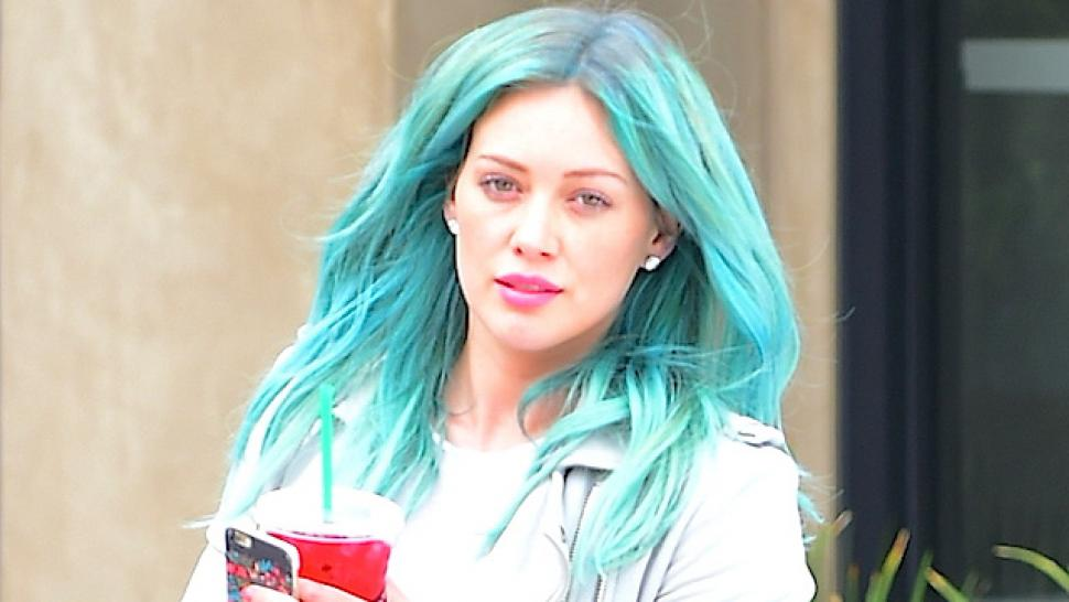 Hilary Duff Channels Kylie Jenner With New Teal Hair Entertainment