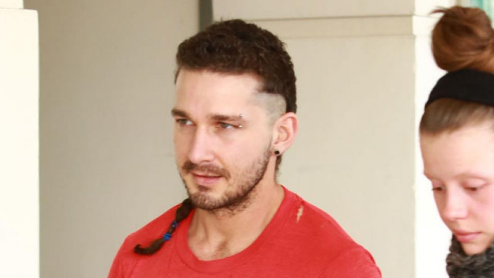 Shia Labeoufs New Look Includes A Braided Rattail And An Eyebrow