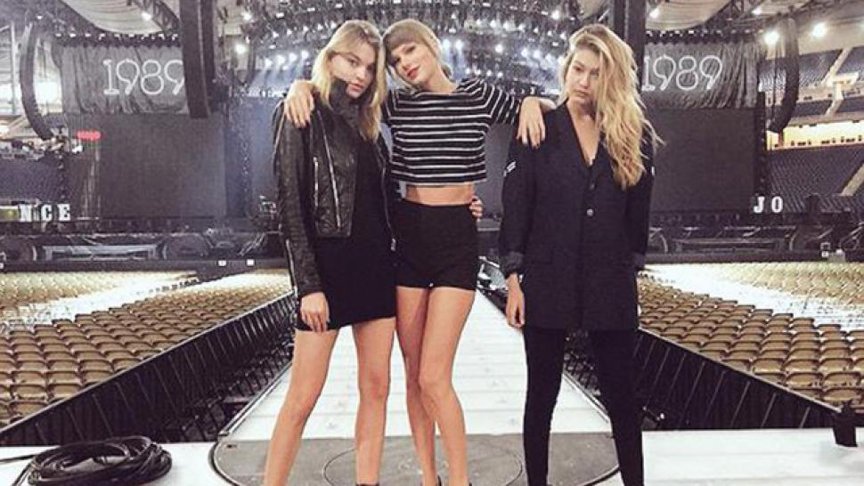 Taylor Swift Struts Stage With Model Bffs Martha Hunt And