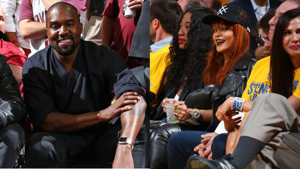 Celebs at the 2015 NBA Finals: Kanye, Rihanna & More! | Entertainment Tonight