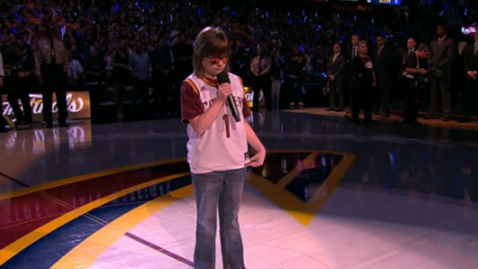 Blind Teenager With Cerebral Palsy Nails National Anthem Performance at NBA Finals ...