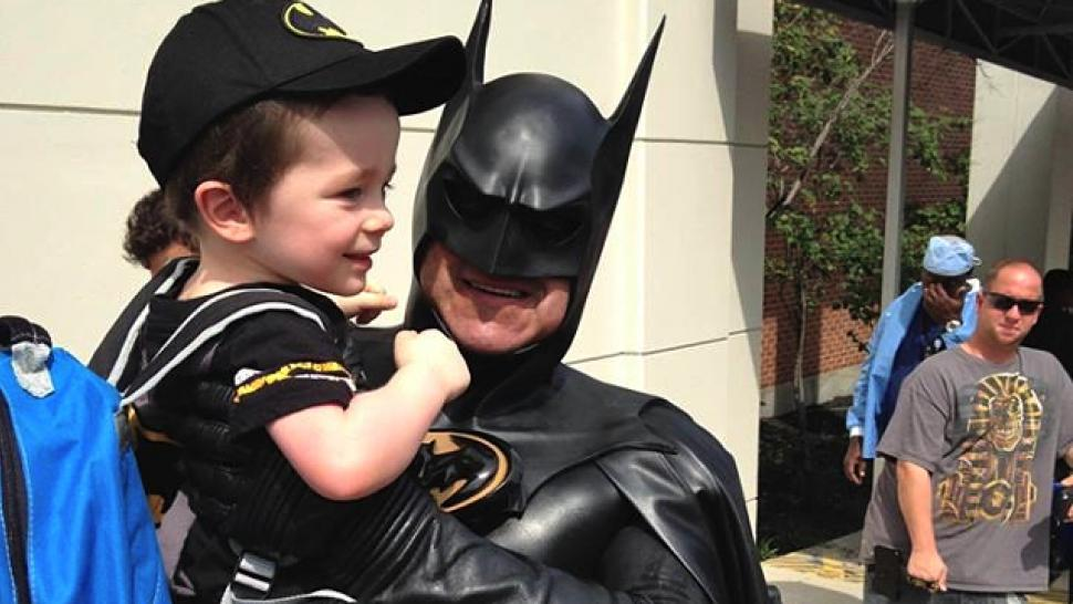 Real Life Batman Known For Visiting Sick Kids In The
