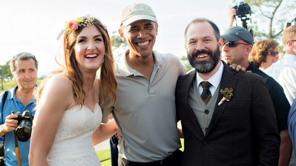This Couple Had The Ultimate Wedding Crasher President Barack Obama