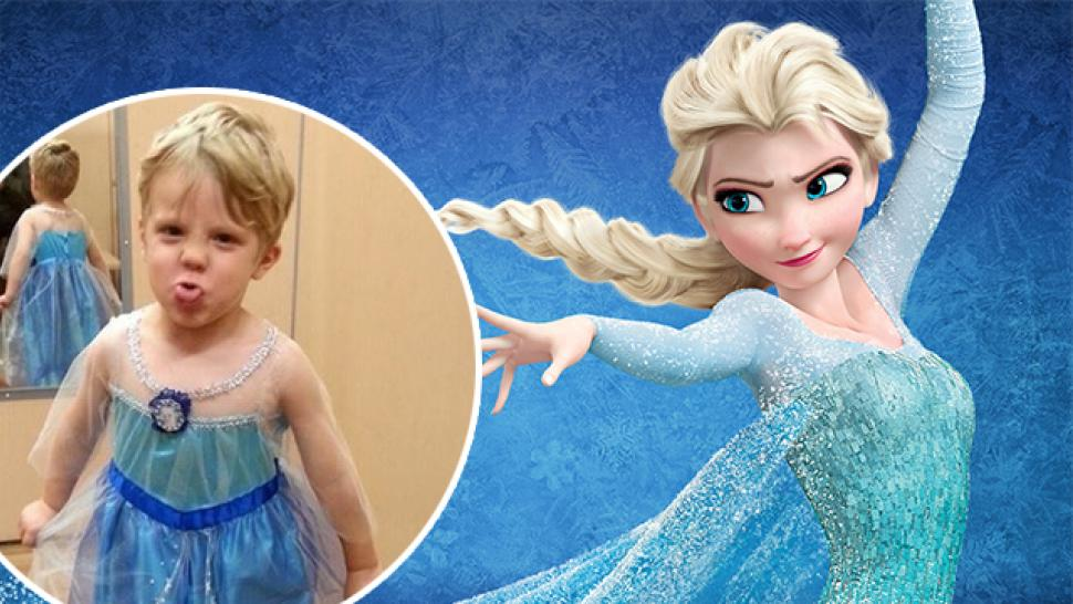 This Dads Reaction To His Son Dressing As Elsa From Frozen For Halloween Will Make Your Day