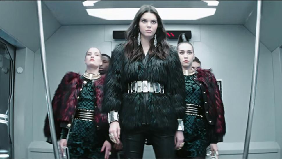 80e1afd6 Kendall Jenner Shows Off Her Voguing Skills in Sexy New Balmain x H&M  Commercial