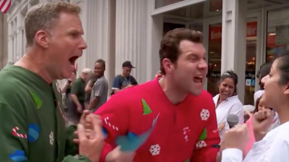 Watch Will Ferrell And Billy Eichner Test Strangers Christmas Movie