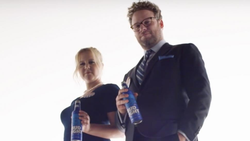 Amy schumer and seth rogen star in bud light super bowl teaser amy schumer and seth rogen star in bud light super bowl teaser mozeypictures Gallery