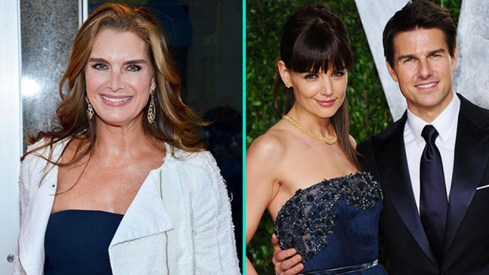 Brooke Shields Recalls Attending Tom Cruises Wedding Giving Birth At The Same Time And Place As Katie Holmes