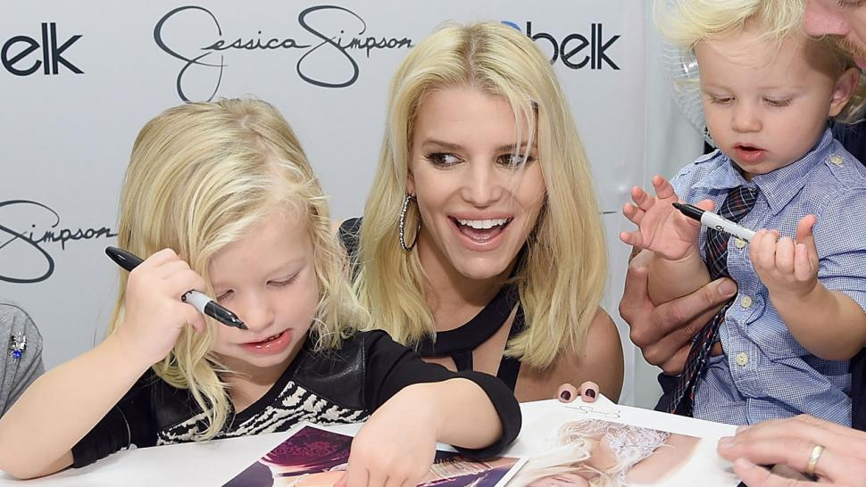 Jessica Simpson\'s Kids Look Like Little Models as They Pose for ...