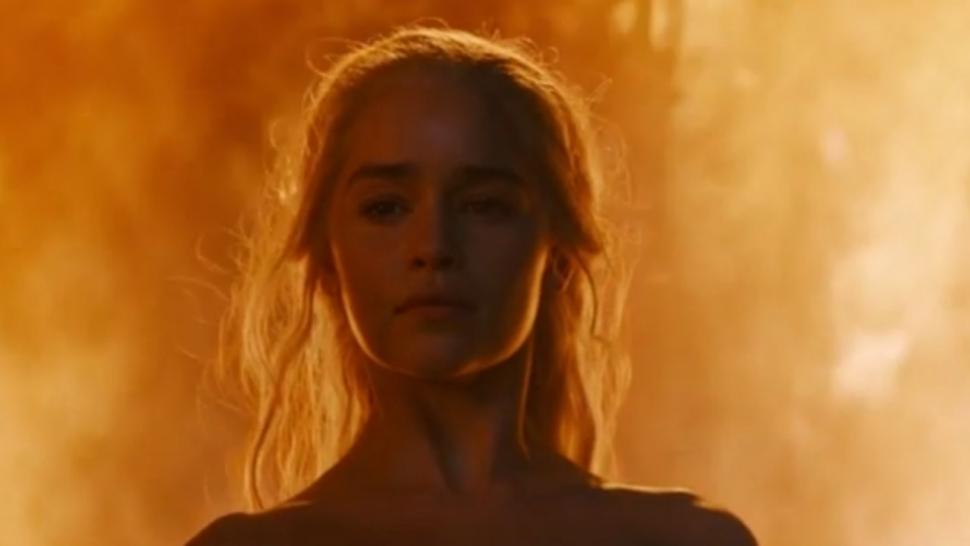 Emilia clarke fiery nude scene from game of thrones