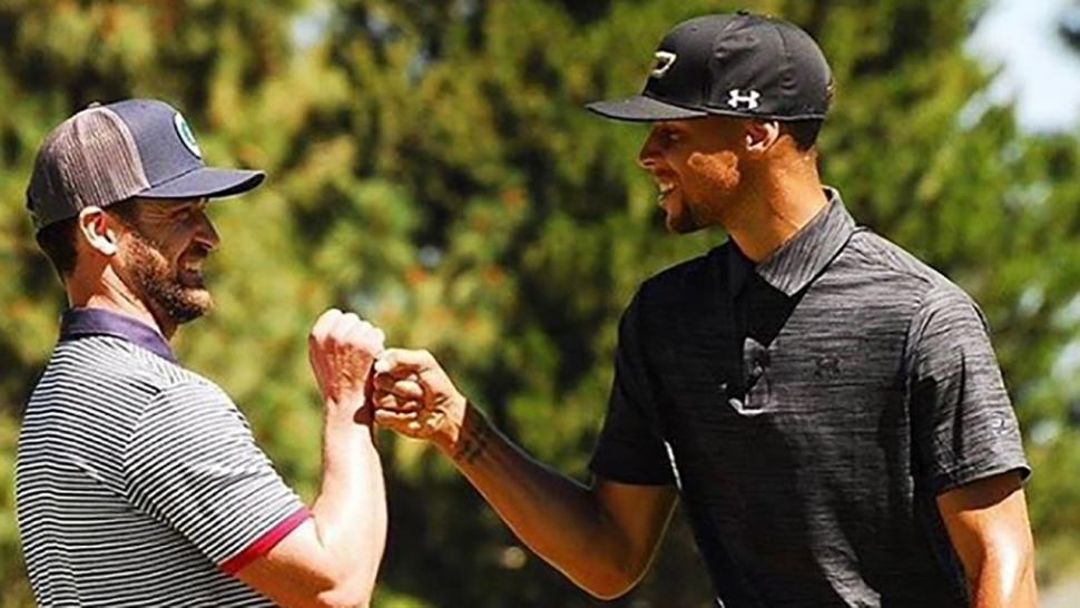 b5aeb3c782324 Justin Timberlake Slapped by Spectator During Celebrity Golf Tournament