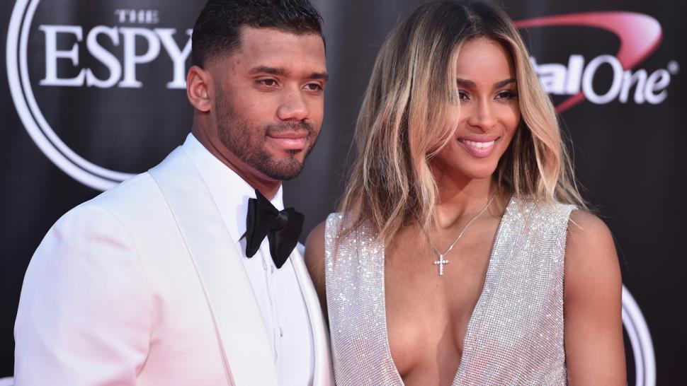 319bc27688239 Ciara Shows Off Giant Wedding Ring, Rocks Cleavage-Baring Gown in ...