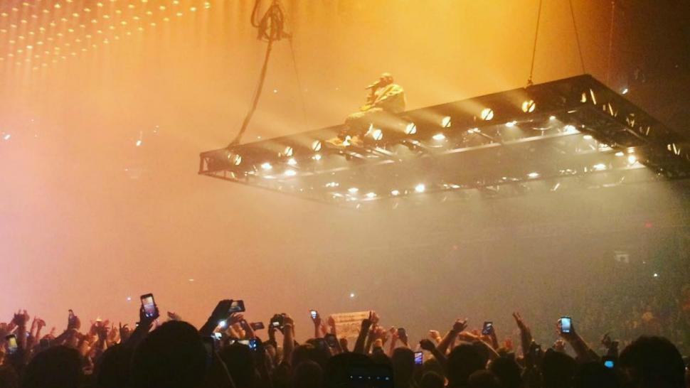 Kanye West Kicks Off Saint Pablo Tour On An Epic Platform Floating Above The Audience Watch