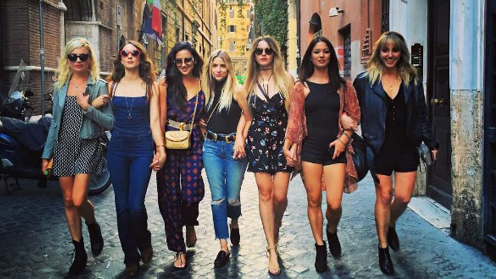 Troian Bellisario Celebrates Her Bachelorette Party In Europe With Pretty Little Liars Co Stars