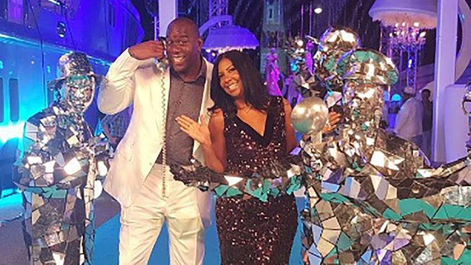 Magic Johnson Celebrates 25 Years Of Marriage With Epic Star