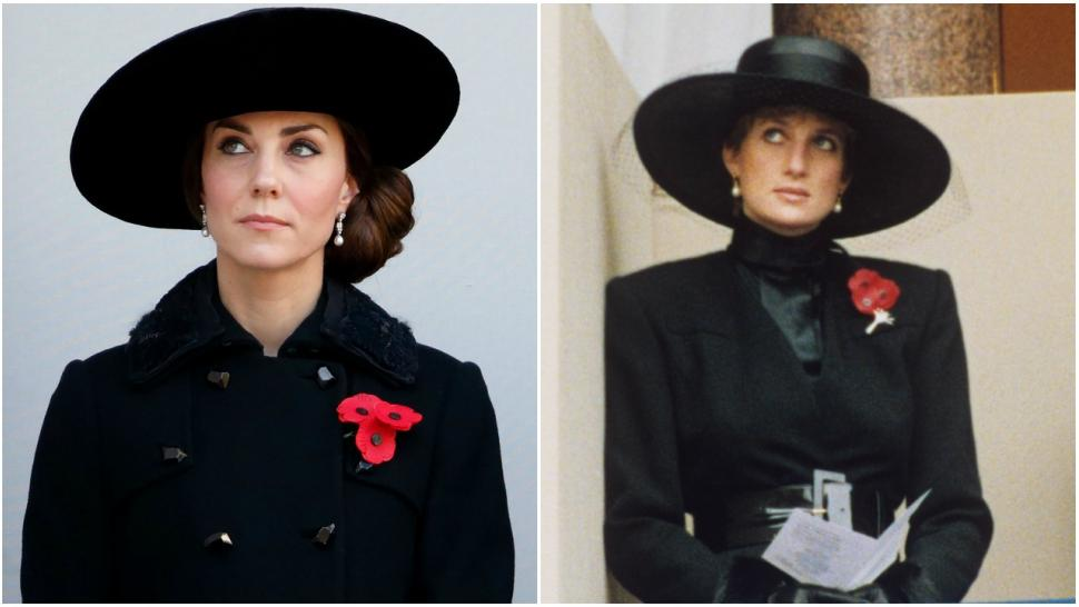 kate middleton draws princess diana comparisons in remembrance day photo see the pics entertainment tonight kate middleton draws princess diana