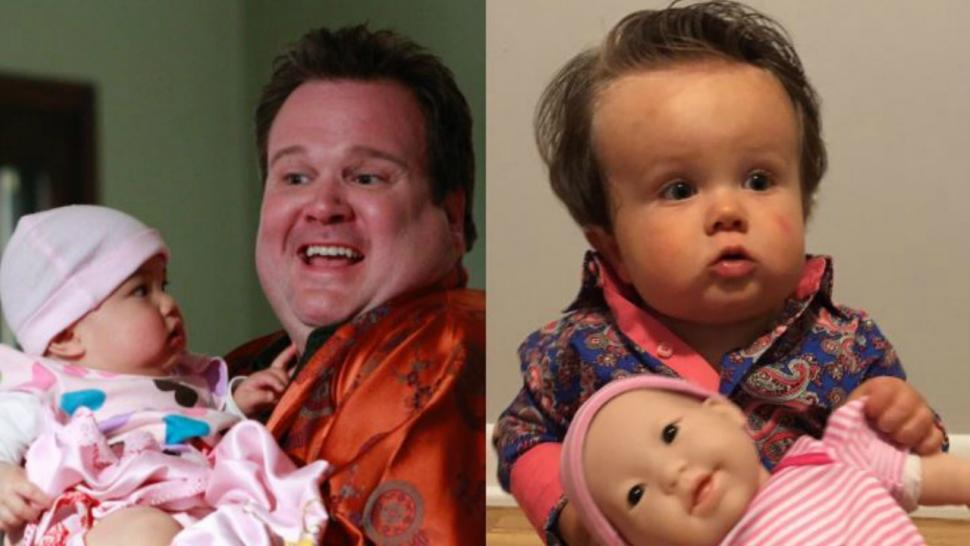 eric stonestreet has a baby look alike who dressed up as his modern