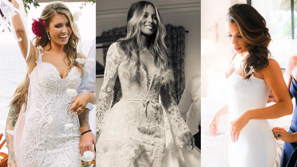 14 most gorgeous celeb wedding dresses of 2016 entertainment tonight 14 most gorgeous celeb wedding dresses of 2016 junglespirit