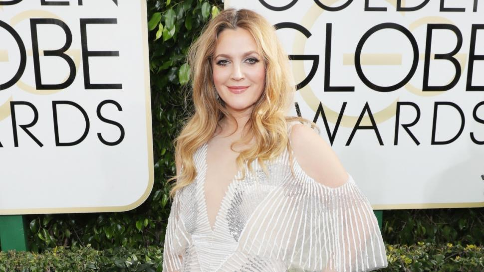 Drew Barrymore Dazzles In Whimsical Metallic Gown At The 2017 Golden Globes See Her Fierce Look
