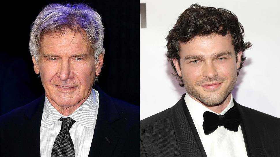 harrison ford has lunch with young han solo alden ehrenreich -- see