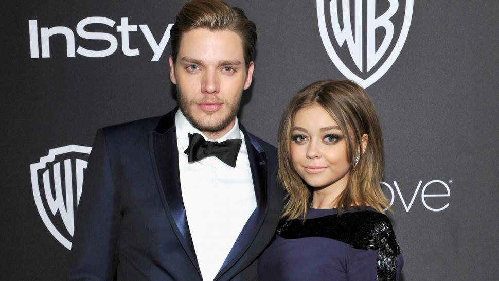Exclusive Sarah Hyland And Dominic Sherwood Call It Quits After 2 Years Of Dating Entertainment Tonight