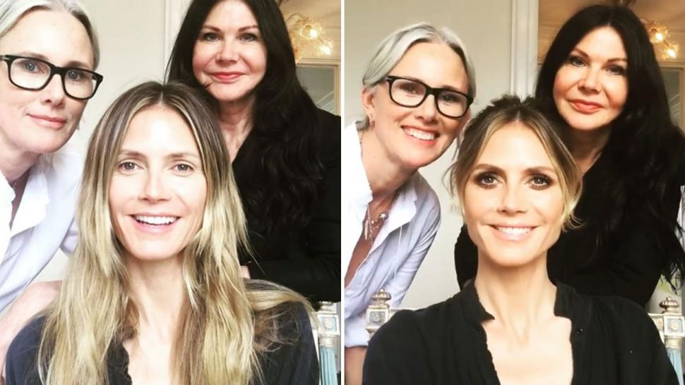 Heidi Klum Stuns With No Makeup in This Glam Transformation Video Before the Oscars!
