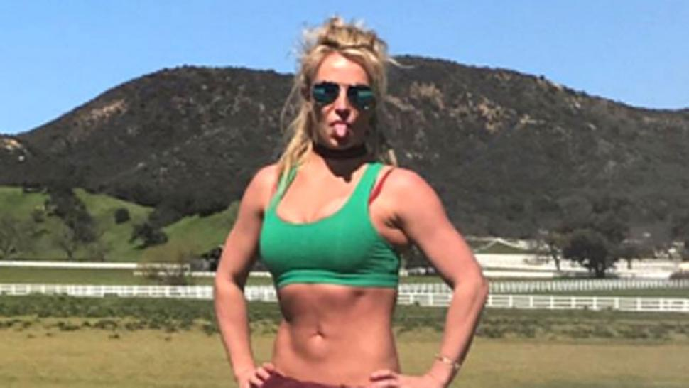 Britney spears in a bikini the question