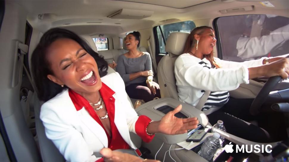 db5b5c6c91 Jada Pinkett Smith and Queen Latifah Jam Out to Prince and Cyndi Lauper in   Carpool Karaoke