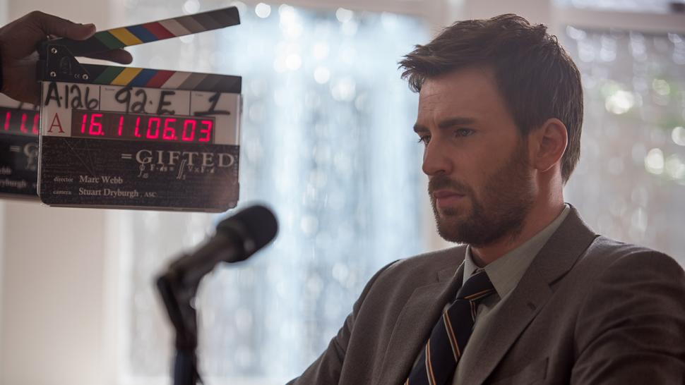 EXCLUSIVE: Chris Evans Is Bearded and Brooding in Behind ...
