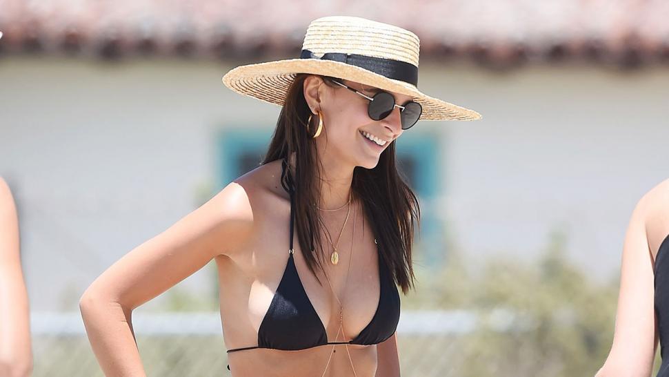 a8d7bb5fb5c6 Emily Ratajkowski Is All Smiles Showing Off Toned Beach Bod in Thong Bikini