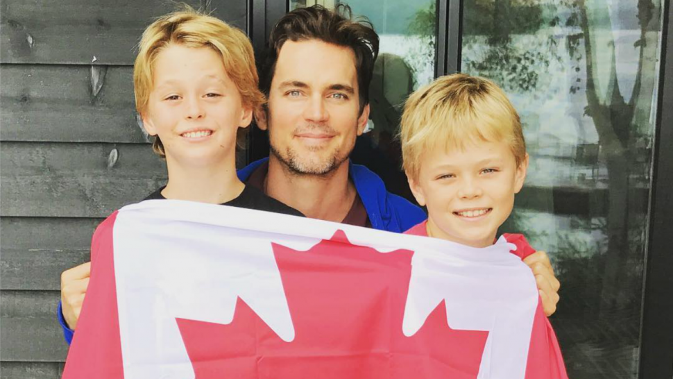 Matt Bomer Shares Rare Photo Of Sons In Celebration Of Canada Day