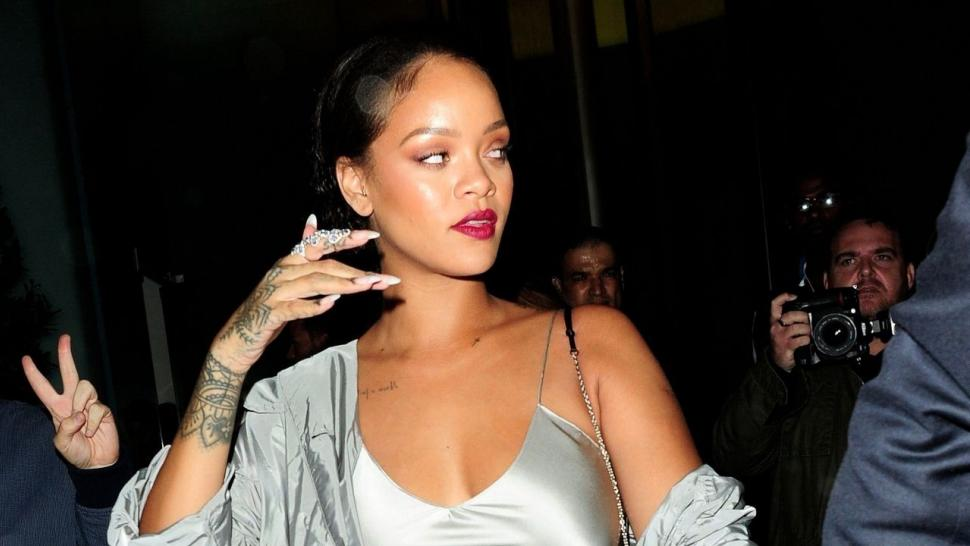 Rihanna Continues to Slay, Slips Into Silver Silk Gown ...