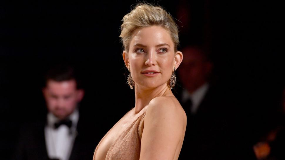 Kate Hudson Shows Off Shaved Head While Dirt Bike Riding
