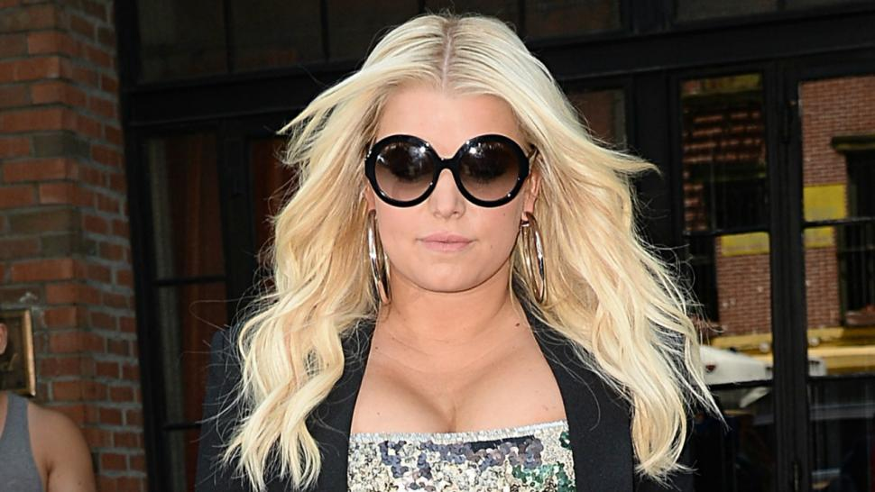 220984cc8403 Jessica Simpson Shows Off Her Killer Legs in Sequin Camouflage Mini Dress  -- See the Pics!