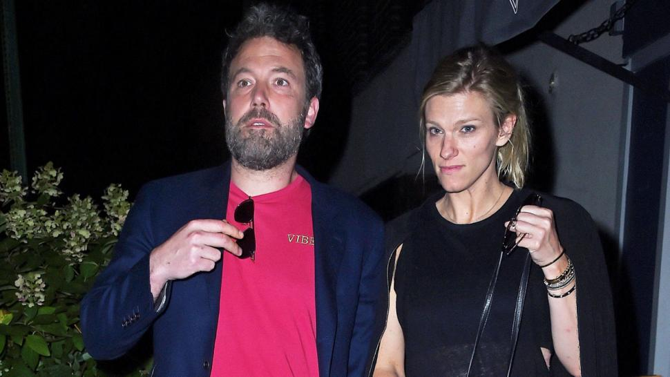 Ben Affleck and Lindsay Shookus leave dinner at NYC restaurant