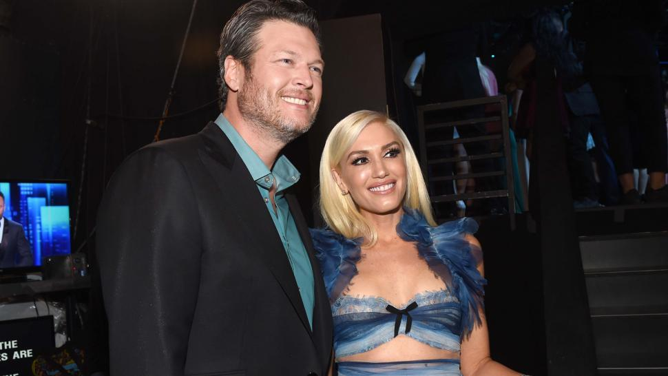 Blake Shelton and Gwen Stefani at the People's Choice Awards 2017