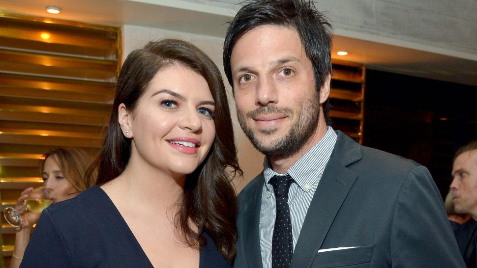 Casey Wilson and David Caspe at the premiere of 'One Mississippi'