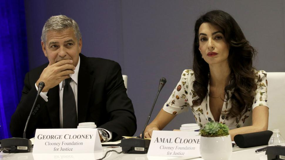 George and Amal Clooney at Leaders Summit for Refugees