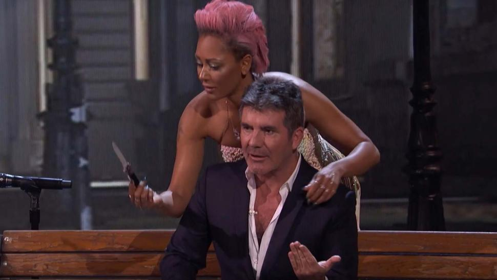 Mel B and Simon Cowell on America's Got Talent