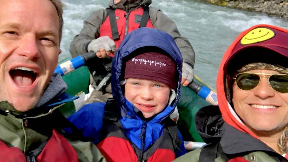 Neil Patrick Harris, David Burtka and son Gideon in Alaska